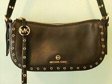 Michael kors Camden XS Pouchette Handbag Black Gold studded