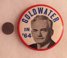 Large 1964 Barry GOLDWATER IN '64 Campaign Button Nice