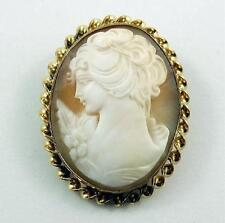 Lovely Vintage Gold-Filled Shell Cameo Pendant and/or Brooch or Pin - Woman