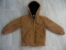 Youth Boys CARHARTT Quilted Lined HOODED Duck Canvas Jacket Small Size 7