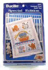 Bucilla Stamped Tied Quilt Top NOAH'S ARK 64005 Cross Stitch Baby