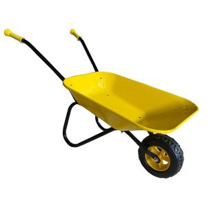 New Child Kids Metal Wheelbarrow - Yellow / Black - Toy, Play, Farm, Gardening