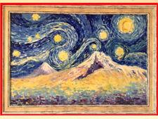 """Biblical """"Mt. ARARAT"""" ARMENIA Painting; RUSSIAN- ARMENIAN Artist- VAN GOGH style"""