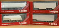 Herpa HO 3-Tri-axles box trailers & a 3-Tri-axle Tank Chemical Trailer, 10% OFF