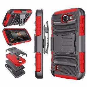 RED & BLACK Hybrid 3 in 1 TPU Case For LG Optimus Zone 3 K4 Spree VS425/K3 LS450