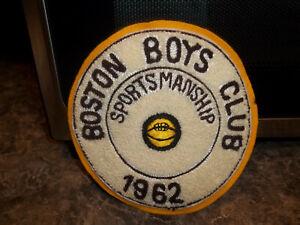 "Vintage 'Boston Boys Club' 'Sportsmanship' Jacket Patch - 1962 - 5.5"""