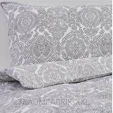 IKEA SKÖRPIL Bettwäsche Bettbezug 140x200 cm Bettwäscheset 2-tlg. grau weiß NEU