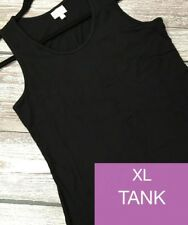 LuLaRoe Tank Top XL Extra Large  NWT Solid Black  Newest Style! Ships Free!