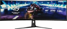 "ASUS - 49"" LED Curved FHD FreeSync Monitor with HDR (DisplayPort, HDMI, USB) ..."