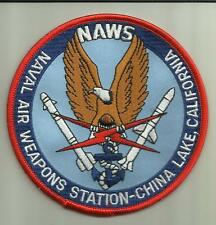 """NAVAL AIR WEAPONS STATION CHINA LAKE CALIFORNIA U.S.NAVY PATCH 4 3/8"""" MISSILES"""