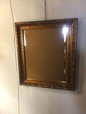Mirror Gilded Heavy Oak Frame Beveled Edge Glass.see 9 pics.Ships $99.MAKE OFFER