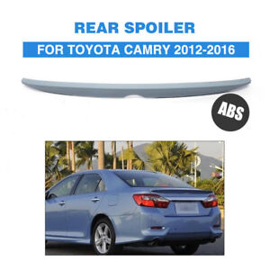 ABS Rear Trunk Lip Spoiler Boot Wing Tail For Toyota Camry 2012-16 Unpained Gray