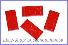 Lego 4 x Platte (2 x 4) - 3020 rot - Red Plate - NEU / NEW