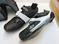 GIRO Prolight SLX II Carbon Fiber Road Racer Bike Shoes, Gloss Black & White 47