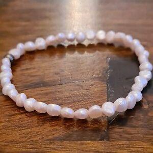 Beautiful Freshwater pearl stretch bracelet Baroque White