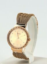 Guess Watch Women's Stainless Gold Tone Steel Mesh Bracelet Watch U1083L3, New