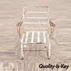 Vintage Woodard Chantilly Rose Wrought Iron Garden Patio Bouncer Lounge Chair