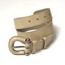 Pelle verniciata cintura marrone scuro cintura marrone per 32mm fibbia H daccordo