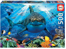 Great White Shark 500 pieces JIGSAW EDUCA NEW SEALED free shipping