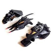 DC Comics baticóptero Batman Caballero de la noche, battank, Batbike Lote de conjunto de vehículos de juguete