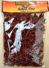 Dried Arbol Chili Peppers (Chile de Arbol Seco), 8 oz