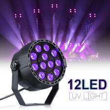 12LED UV Par Stage Light Black Light Wall Washer Lamp DMX DJ Disco Party Strobe