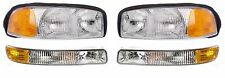 1999 - 2006 GMC SIERRA / YUKON HEADLIGHTS AND CORNER LAMP LIGHT COMBO