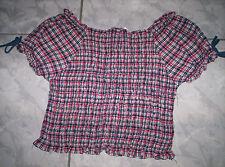 """""""Oviesse"""" Sommer-Shirt/Bluse, gesmokt, kariert, neuw. Gr.122-134"""