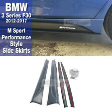 M Sport Performance Style Side Skirts Decal For BMW 2012-2017 3 Series F30 Sedan