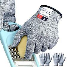Cutting Gloves Medium 2 Pairs Cut Resistant Gloves Food Grade Cut Proof Glove