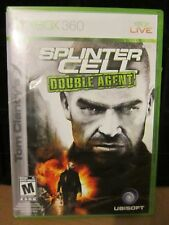 XBOX 360 -- XBOX-LIVE---- SPLINTER CELL DOUBLE AGENT USED VIDEO GAME /MANUAL