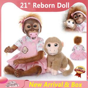 "21"" Reborn Baby Dolls Handmade Soft Silicone Vinyl Realistic Newborn Girl Gift"