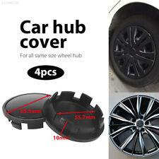 F46B No Logo Wheel Center Cap Black Replacement Hub Cap Car Wheel Cover Durable