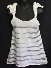 S&B VIE SASS & BIDE  Papa Sucre 4+5 White Grey Tank with Nautical Rope Detail XS