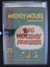 Mickey Mouse Magazine Vol 2 #3 WALT DISNEY 1936 - CGC 6.0 (Q) - Christmas Issue!