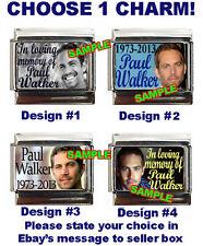 In Loving Memory of Paul Walker Custom Italian Charm, God Bless you Paul :-(