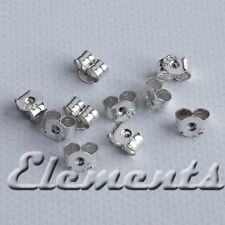 1 Pair .925 Sterling Silver Stud Earring Backs Push On Stopper Scrolls SF099
