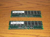 Dell Poweredge 2600 Server 1GB memory kit (2x512MB) RAM MT18VDDT6472G-165B1