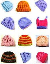 Beanies & Hats for Children Knitted in 8 ply Yarns - 30 Knitting Patterns BK34