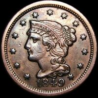 1849 Braided Hair Large Cent Penny ---- Nice Details Type Coin ---- #H427