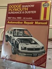 Repair Manual Book Plymouth Volare Road Runner Fury GTX