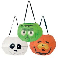 Halloween Sweets Holder Loot Bag Sturdy Polyester Trick or Treat Candy Bag