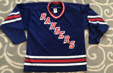 Vintage New York Rangers NHL Hockey CCM Blue Home Jersey Size Large