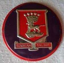 1950s Wheaties Cereal SUNBEAM TALBOT Steel Metal Auto Car Emblem Badge Premium