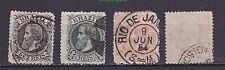 "1882-84 Brazil SC# 82-5 Dom Pedro II ""Large Head"" set ~"