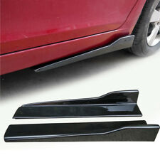 PP Side Skirts Body kit Spoiler Carbon  pattern Scratch Resistant Winglet 2pcs