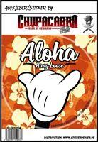 Aloha Hang Loose Aufkleber Sticker Fun Surfen Autoaufkleber JDM