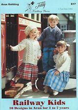 VAT Free 10 KNITTING PATTERNS ONLY Teddy Book Railway Kids Child Arans New 617