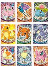1999 Topps Pokemon 6 foil 12 non-foil Nintendo Tv Animation Heavy to Light Play