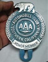 New Southern California AAA License Plate Topper Wreath Bear Logo Free SH USA